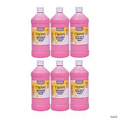 Handy Art® Little Masters™ Washable Tempera Paint, 32 oz, Pink, Pack of 6