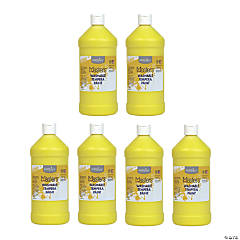 Handy Art® Little Masters™ Washable Tempera Paint, 32 oz, Yellow, Pack of 6