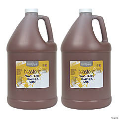 Handy Art® Little Masters™ Washable Tempera Paint, Gallon, Brown, Pack of 2