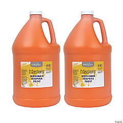 Handy Art® Little Masters™ Washable Tempera Paint, Gallon, Orange, Pack of 2