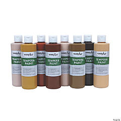 Handy Art® Tempera Paint, Multicultural, 8 oz, Set of 8