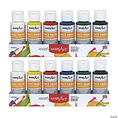 Handy Art® Washable Face Paint Kit, 2 oz. bottles, 12 count