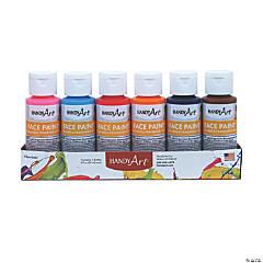 Handy Art® Washable Face Paint Kit, Secondary colors, 2 oz. bottles, Set of 6