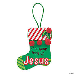 Hang Your Hope on Jesus Stocking Ornament Craft Kit