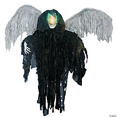 Hanging Black Winged Reaper Halloween Décor