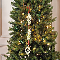 Hanging Spiral & Peppermint Christmas Decoration Idea