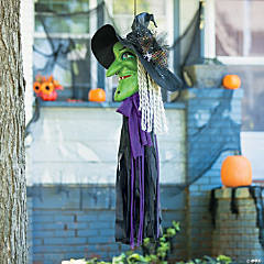 Hanging Witch Face Halloween Decoration