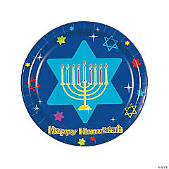 Hanukkah Festivities Dinner Plates