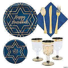 Hanukkah Premium Tableware Kit for 20 Guests