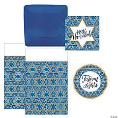 Hanukkah Tableware Kit for 18 Guests