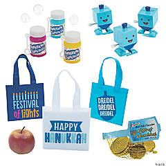 Hanukkah Treat Bags with Candy Kit for 12