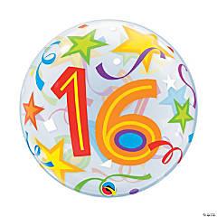 Happy 16th Birthday Bubble Balloon