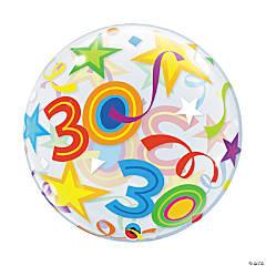 Happy 30th Birthday Bubble Balloon
