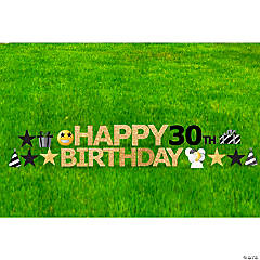 Happy 30th Birthday Yard Sign Kit