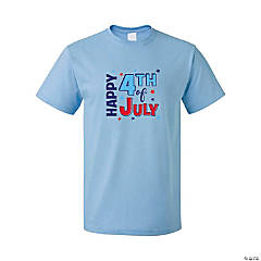 Happy 4th of July Adult's T-Shirt - Large