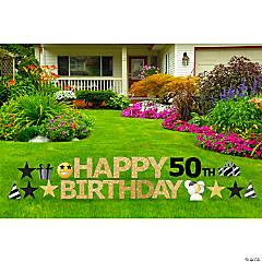 Happy 50th Birthday Yard Sign Kit
