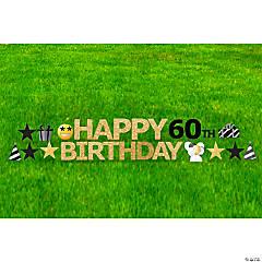 Happy 60th Birthday Yard Sign Kit