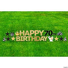 Happy 70th Birthday Yard Sign Kit