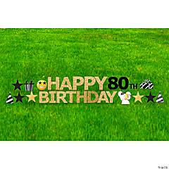 Happy 80th Birthday Yard Sign Kit