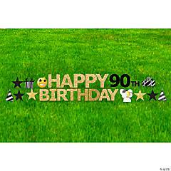 Happy 90th Birthday Yard Sign Kit