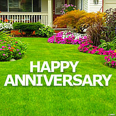 Happy Anniversary Letters Yard Sign