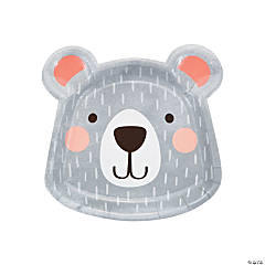 Happy Bear Shaped Paper Dinner Plates