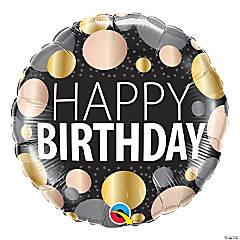 Happy Birthday Big Metallic Dots 18
