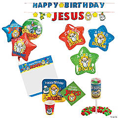 Happy Birthday Jesus Party Kit for 8 Guests