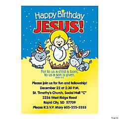 Happy Birthday Jesus Personalized Invitations
