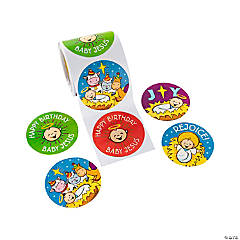 Happy Birthday Jesus Stickers