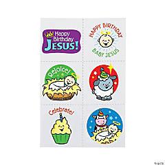 Happy Birthday Jesus Temporary Tattoos
