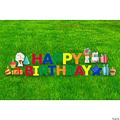 Happy Birthday Letter & Icon Yard Signs