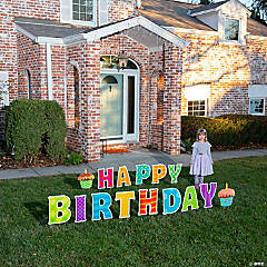 Happy Birthday Letter Yard Signs