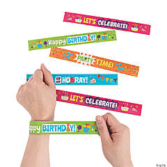 Happy Birthday Slap Bracelets