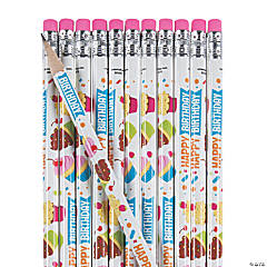 Happy Birthday Treats Pencils - 24 Pc.