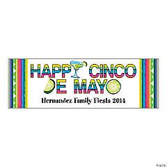 Happy Cinco de Mayo Party Custom Banner