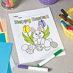 happy easter bunny free printable coloring page