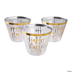Happy Easter Gold Cups