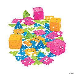 Happy Face Connecting Puzzle Pieces
