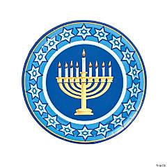 Happy Hanukkah Paper Dinner Plates - 8 Ct.