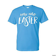 Happy Happy Easter Adult's T-Shirt - Extra Large