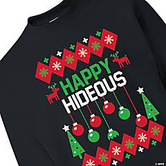 Happy Hideous Adult's Sweatshirt - Extra Large