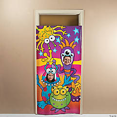Happy Monster Photo Door Banner