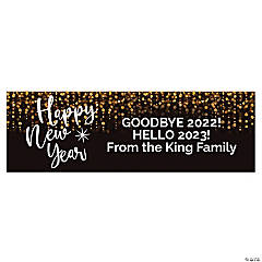 Happy New Year Custom Banner - Small
