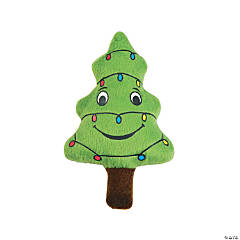Happy Plush Christmas Tree with Lights