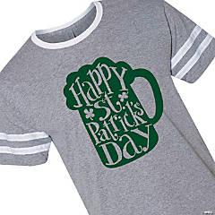 Happy St. Patrick's Day Mug Adult's T-Shirt - 3XL