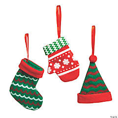 Hat, Stocking & Mitten Ornaments
