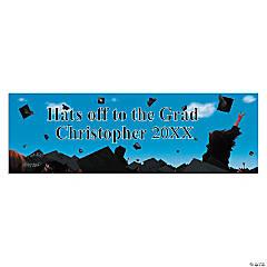 Hats Off To The Grad Graduation Custom Banner - Small