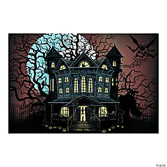 Haunted House Backdrop Halloween Decoration