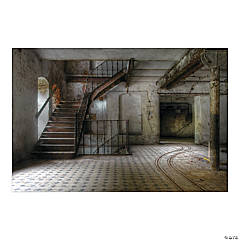 Haunted Stairwell Backdrop Banner